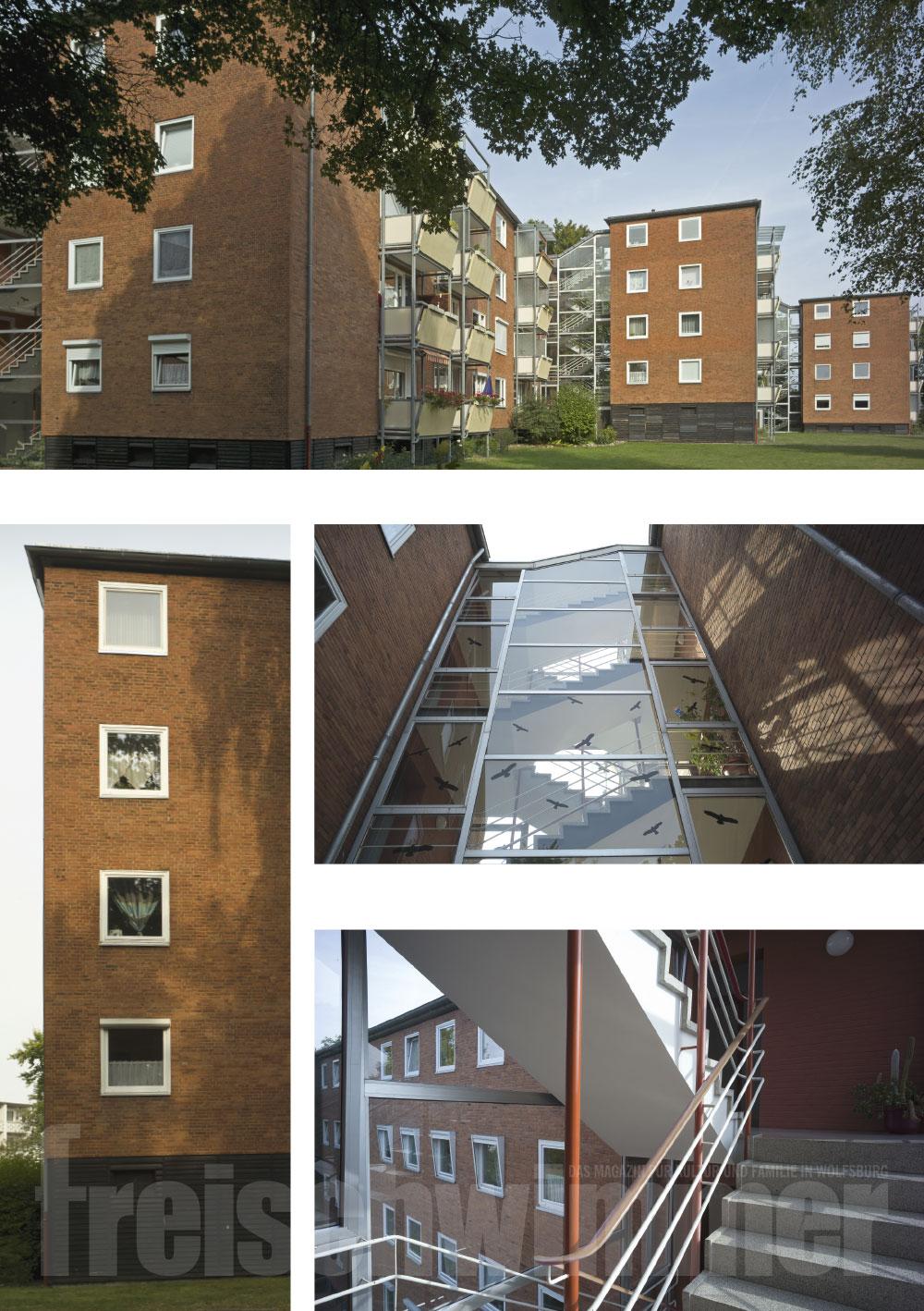 Architekt Wolfsburg 1959 wohnhäuser am eckernweg freischwimmer hallenbad
